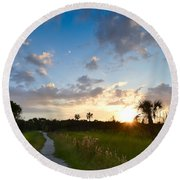 A Walk With You... Round Beach Towel