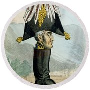 A Wellington Boot Or The Head Round Beach Towel by English School