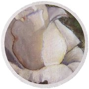 A Whiter Shade Of Pale Round Beach Towel by Laurie Morgan