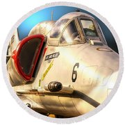 A4 Skyhawk Attack Jet Round Beach Towel by Thomas Woolworth