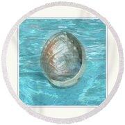 Abalone Underwater Round Beach Towel