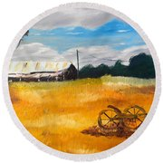 Abandon Farm Round Beach Towel