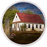 Abandoned Church And Graves Round Beach Towel