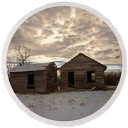Abandoned History Round Beach Towel by Desiree Paquette