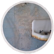Abandoned Sink Round Beach Towel