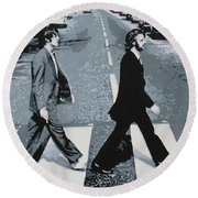Abbey Road 2013 Round Beach Towel