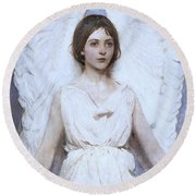 Abbott Handerson Thayer Angel 1886 Round Beach Towel