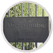 Abercrombie And Fitch Store In Paris France Round Beach Towel