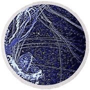 Round Beach Towel featuring the photograph Aberration Of Jelly Fish In Rhapsody Series 3 by Antonia Citrino