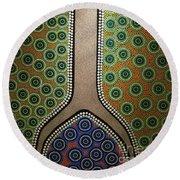 Round Beach Towel featuring the photograph Aboriginal Inspirations 21 by Mariusz Czajkowski