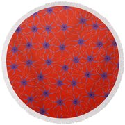 Round Beach Towel featuring the painting Aboriginal Inspirations Collection 3 by Mariusz Czajkowski