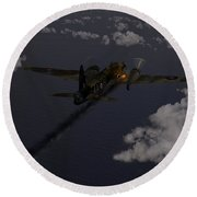 Above And Beyond - Jimmy Ward Vc Round Beach Towel by Gary Eason