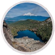 Above Castle Lake 1 Round Beach Towel