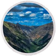 Round Beach Towel featuring the photograph Above It All by Don Schwartz