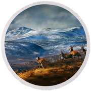 Above Strathglass Round Beach Towel
