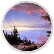 Above The Clouds At Sunrise By Frederick Edwin Church Round Beach Towel