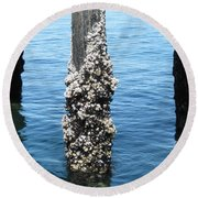 Above The Line Round Beach Towel by David Trotter