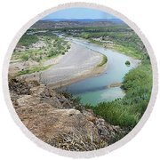 Above The Rio Grande Round Beach Towel