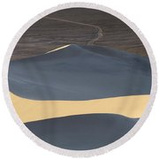 Above The Road Round Beach Towel