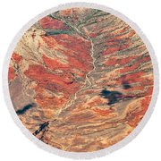 Round Beach Towel featuring the digital art Above Timber Line by Mae Wertz