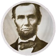 Abraham Lincoln Round Beach Towel by Alexander Gardner