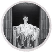 Abraham Lincoln Memorial Round Beach Towel