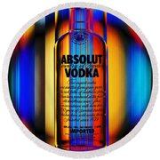 Absolut Abstract Round Beach Towel