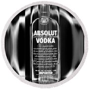 Absolut Black And White Round Beach Towel