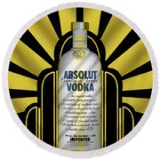 Absolut Deco Round Beach Towel