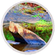 Abstact Rock				 Round Beach Towel