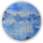 Abstract # 3 Round Beach Towel