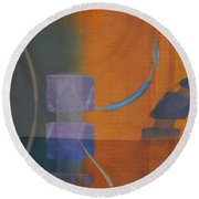 Abstract 02 I Round Beach Towel