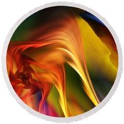 Abstract 031814 Round Beach Towel