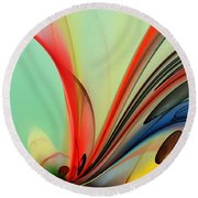Abstract 040713 Round Beach Towel