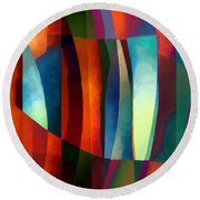 Abstract #1 Round Beach Towel