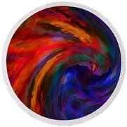 Abstract 29012013 - 042 Round Beach Towel by Stuart Turnbull
