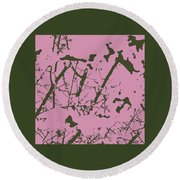 Abstract 4 Round Beach Towel
