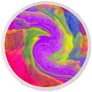 Abstract 44 Round Beach Towel