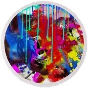 Abstract 6832 Round Beach Towel