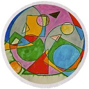 Abstract 89-001 Round Beach Towel