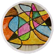 Abstract 89-002 Round Beach Towel