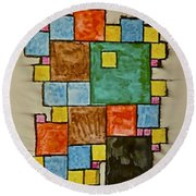 Abstract 89-003 Round Beach Towel