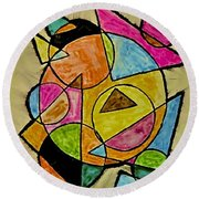 Abstract 89-004 Round Beach Towel