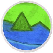 Abstract 92-001 Round Beach Towel