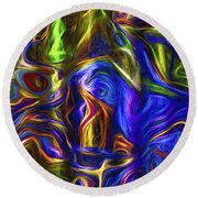 Abstract Series A3 Round Beach Towel