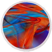 Abstract - Airey Round Beach Towel by rd Erickson