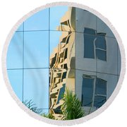 Abstract Architectural Shapes Round Beach Towel
