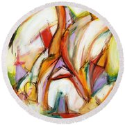 Abstract Art Forty-five Round Beach Towel