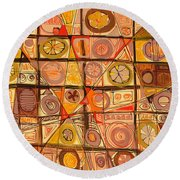 Abstract Art Sixty-five Round Beach Towel