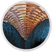 Abstract Basket Round Beach Towel